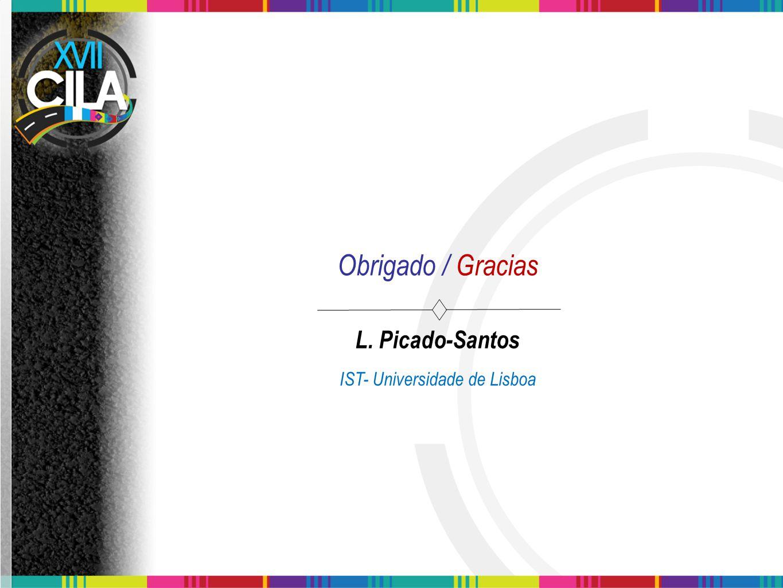 Obrigado / Gracias L. Picado-Santos IST- Universidade de Lisboa