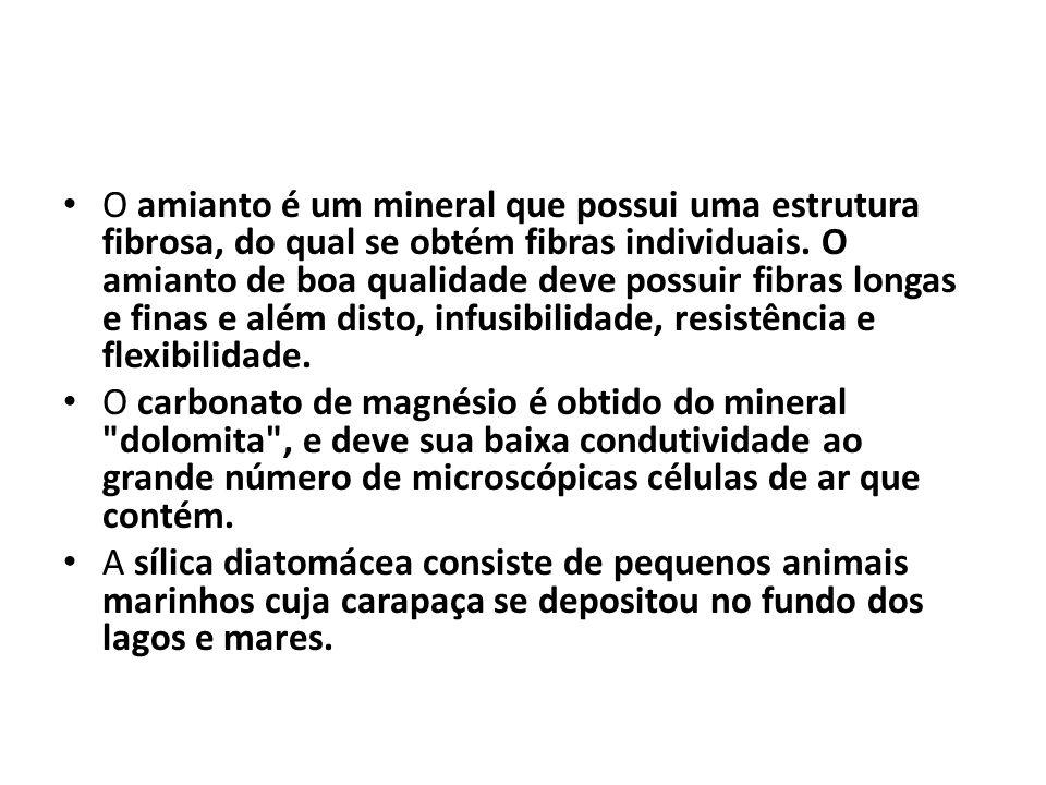 O amianto é um mineral que possui uma estrutura fibrosa, do qual se obtém fibras individuais. O amianto de boa qualidade deve possuir fibras longas e