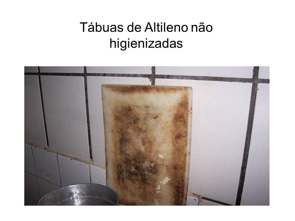 Tábuas de Altileno não higienizadas