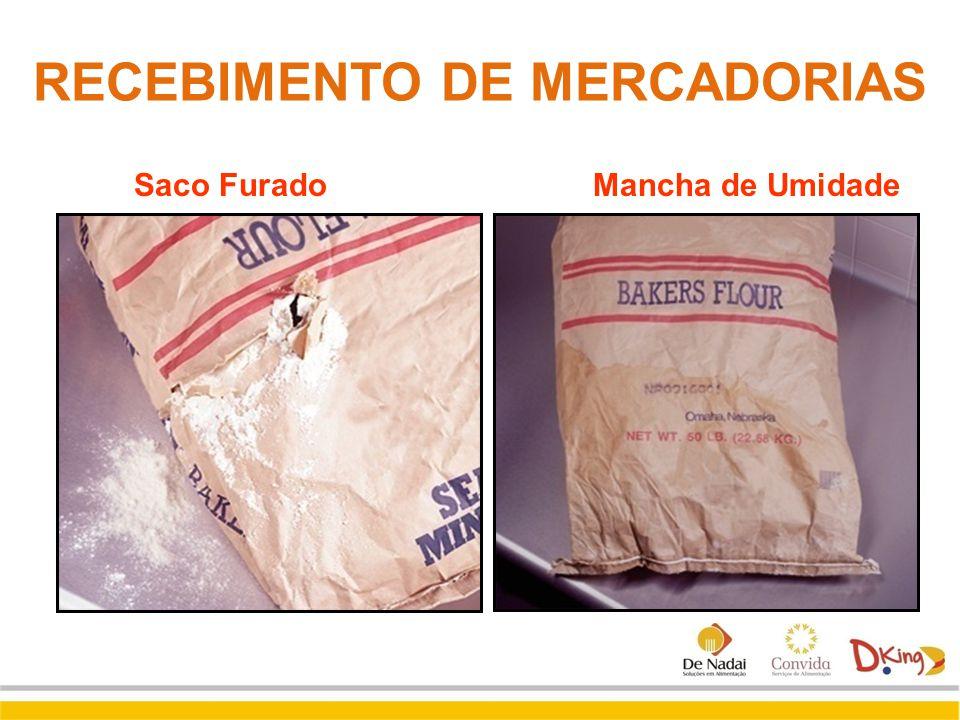Saco Furado Mancha de Umidade RECEBIMENTO DE MERCADORIAS