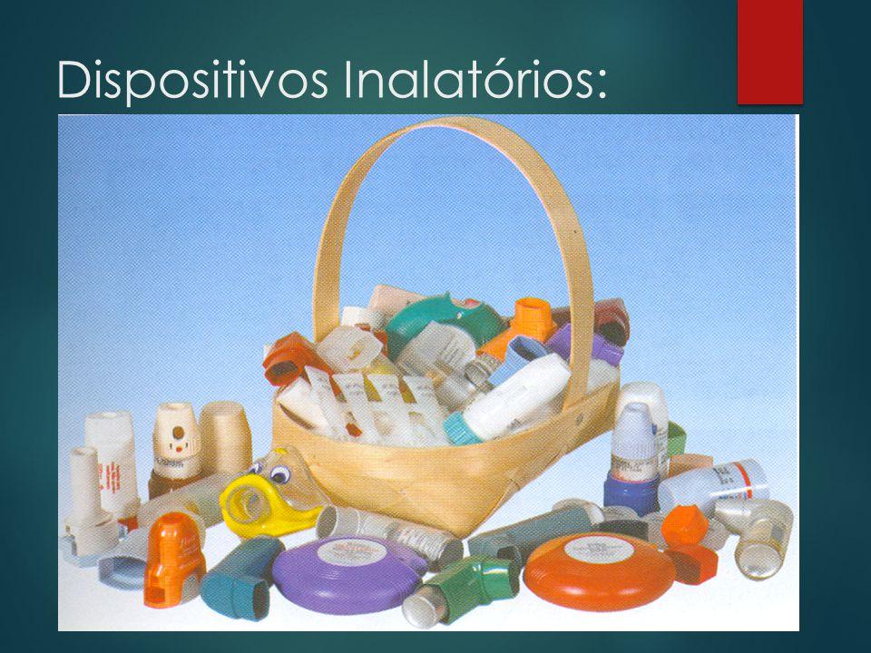 Vantagens dos Inaladores Pressurizados (IPs):  Compactos, portáteis e com multidoses;  Menor custo que os IPo;  Disponíveis para a maioria dos medicamentos;  Não causam depleção da camada de ozônio;  Alguns têm contador de doses.