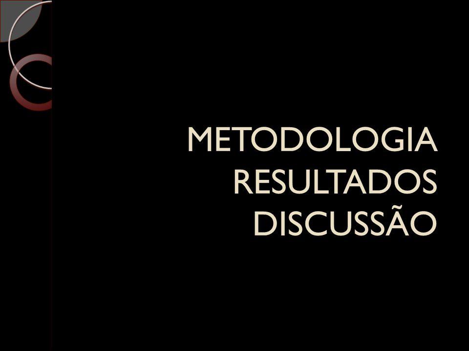 METODOLOGIA RESULTADOS DISCUSSÃO