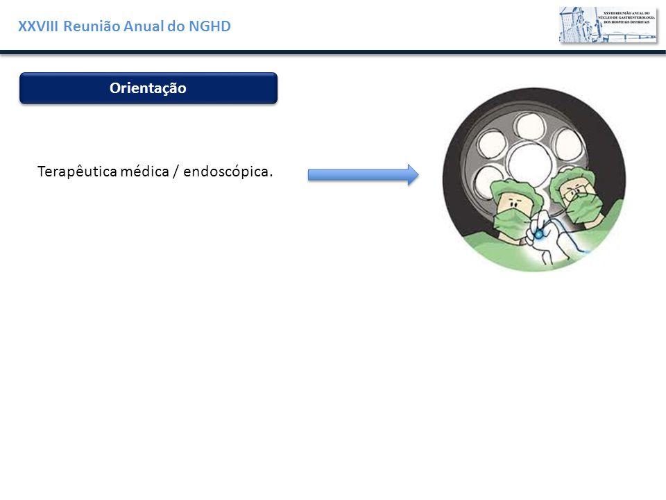 XXVIII Reunião Anual do NGHD Orientação Terapêutica médica / endoscópica.