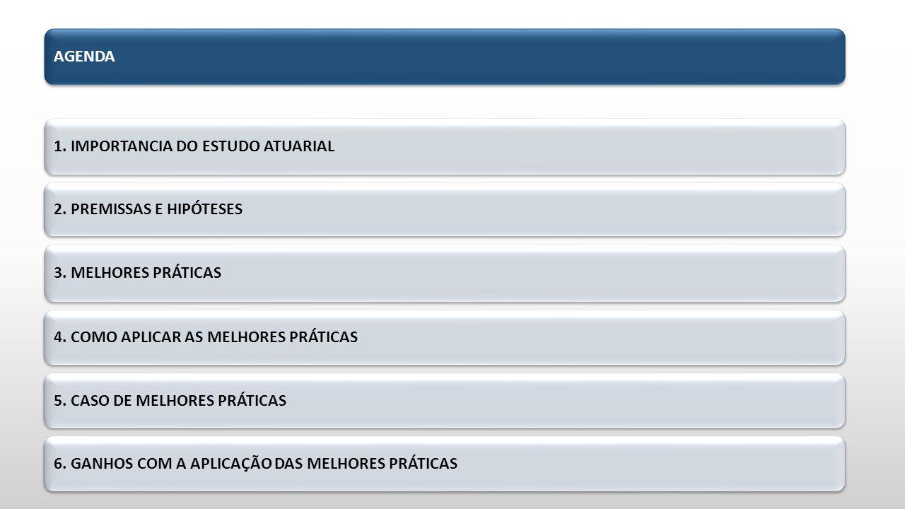 AGENDA 1.IMPORTANCIA DO ESTUDO ATUARIAL 2. PREMISSAS E HIPÓTESES 3.