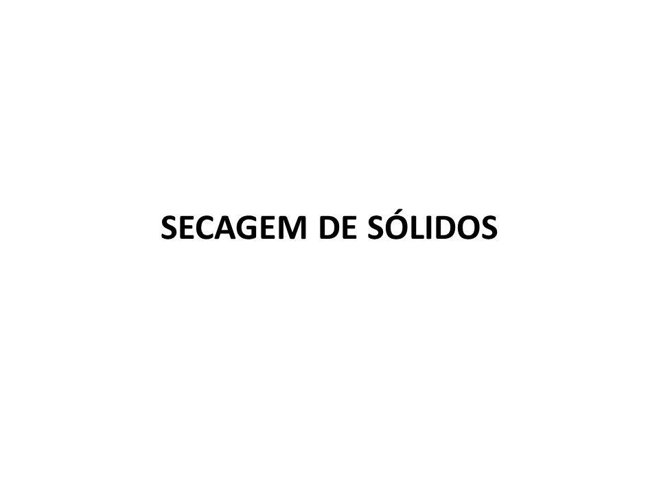 SECAGEM DE SÓLIDOS