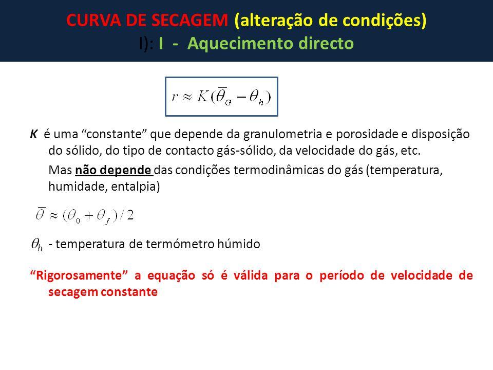 """K é uma """"constante"""" que depende da granulometria e porosidade e disposição do sólido, do tipo de contacto gás-sólido, da velocidade do gás, etc. Mas n"""