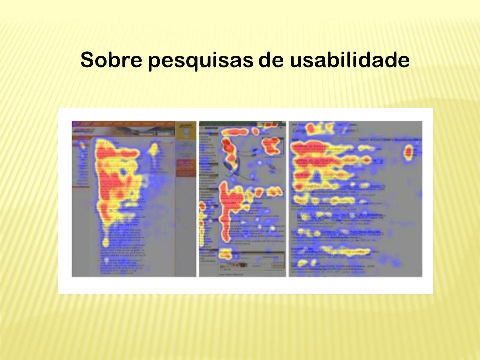 Sobre pesquisas de usabilidade