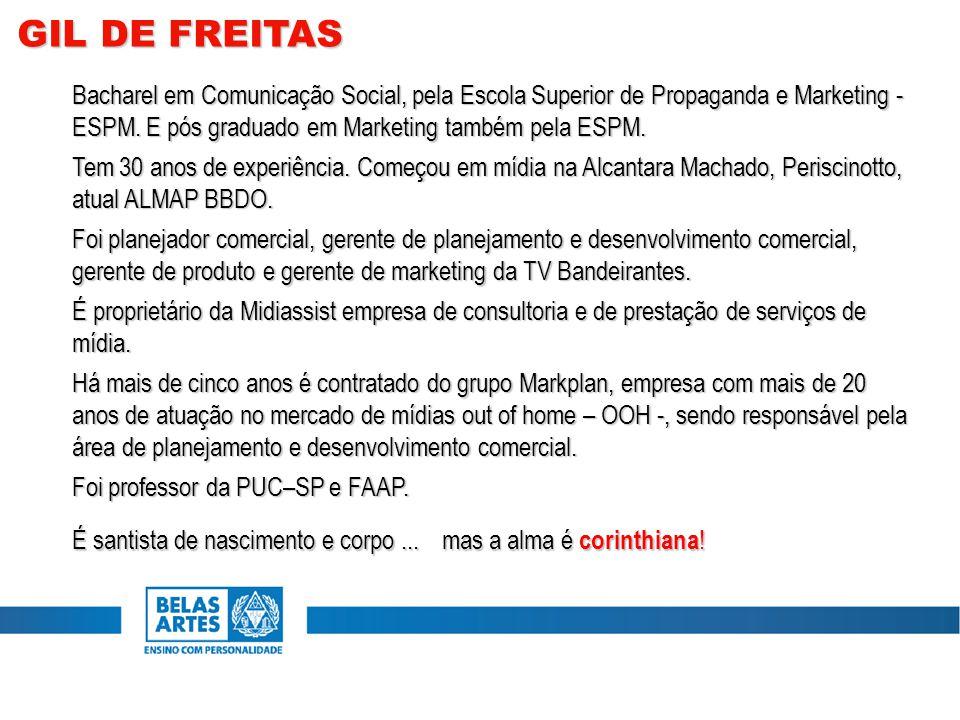 Bacharel em Comunicação Social, pela Escola Superior de Propaganda e Marketing - ESPM.