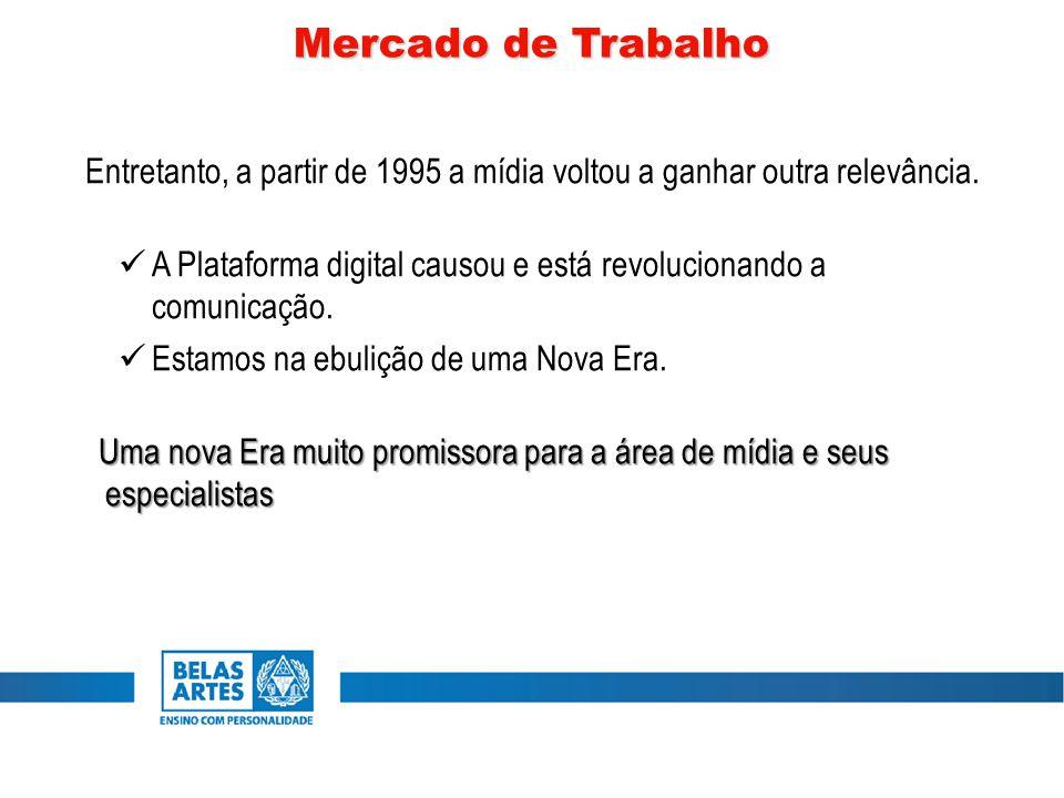 Entretanto, a partir de 1995 a mídia voltou a ganhar outra relevância. A Plataforma digital causou e está revolucionando a comunicação. Estamos na ebu
