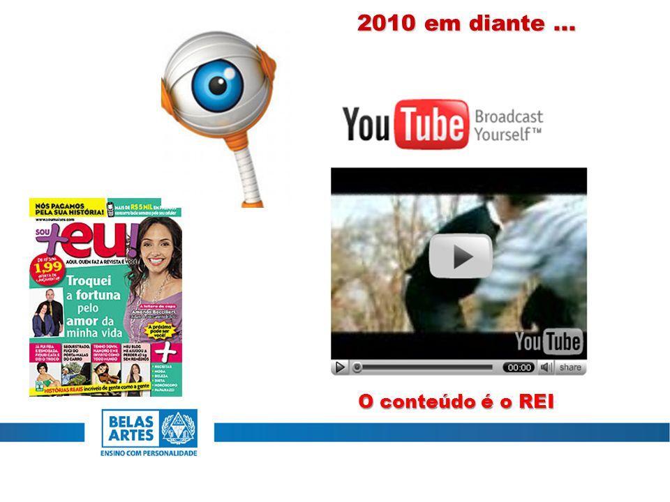 2010 em diante... O conteúdo é o REI