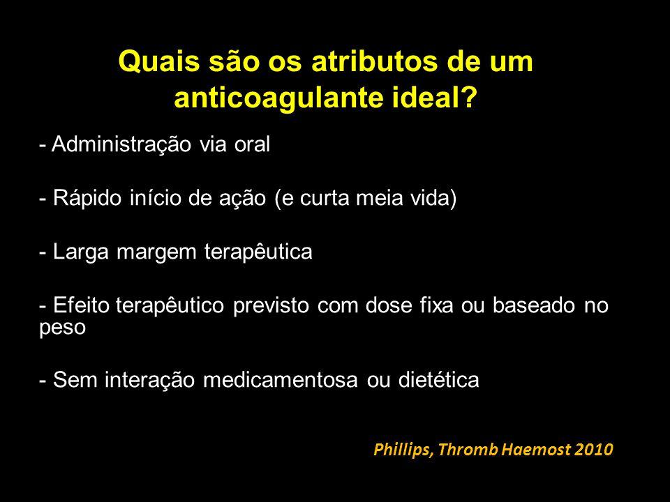 Quais são os atributos de um anticoagulante ideal.
