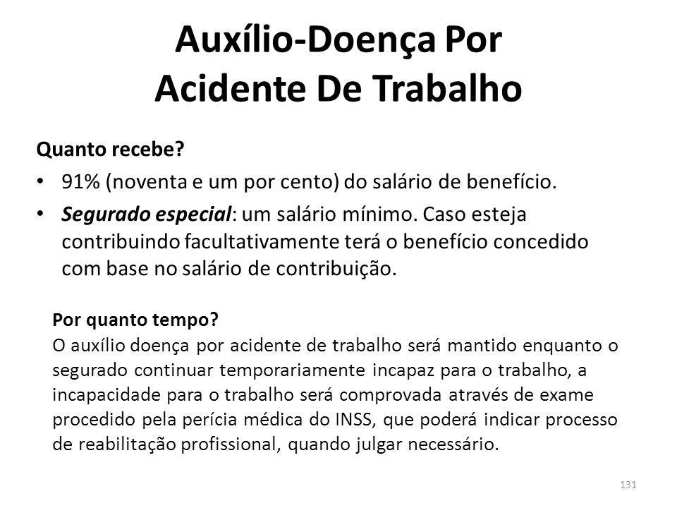 130 Auxílio-Doença Por Acidente De Trabalho Quando tem início.