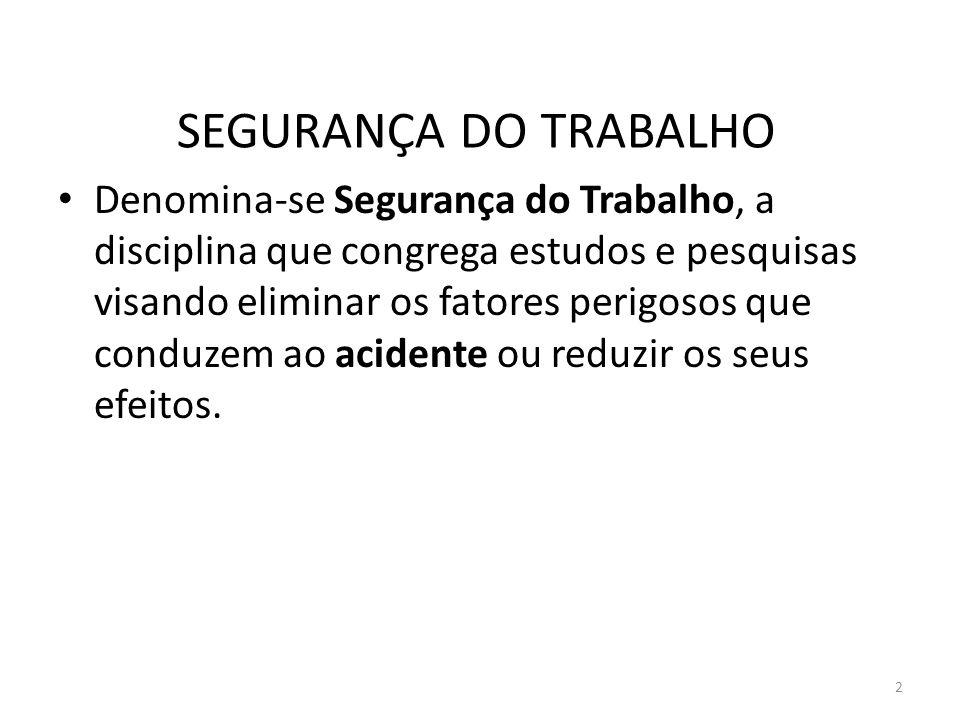 12 SEGURANÇA DO TRABALHO Provavelmente, porque foi nessa época, que iniciou-se a revolução industrial no Brasil, com a criação da 1a.