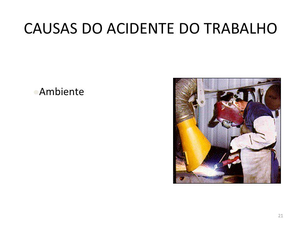 20 CAUSAS DO ACIDENTE DO TRABALHO Materiais