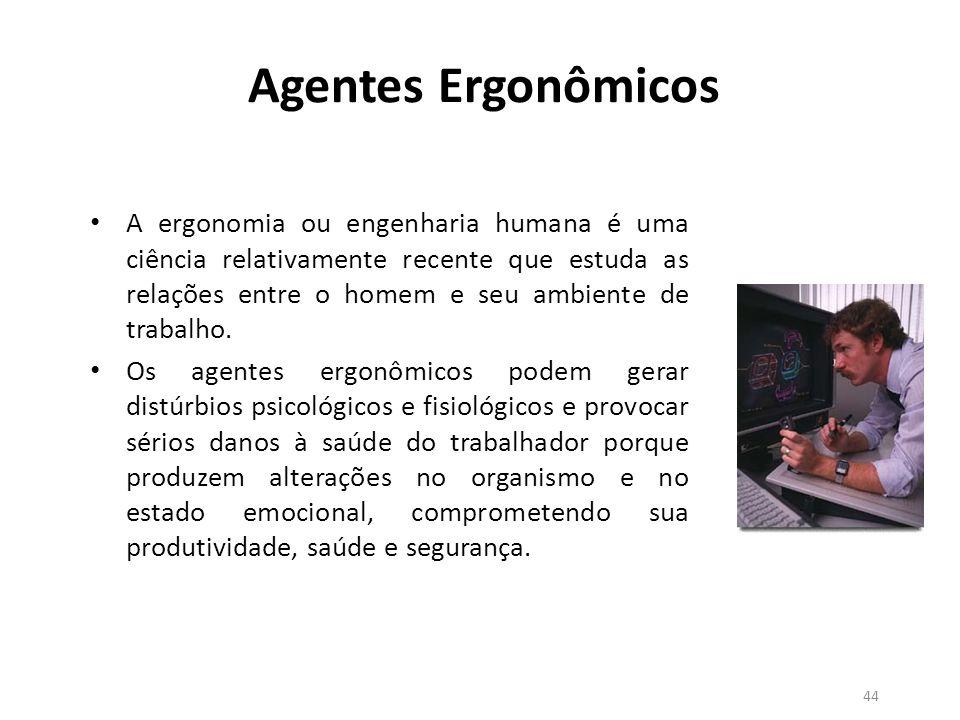 43 Agentes Biológicos – São os microorganismos vivos não vistos a olho nu, capazes de provocar doenças.
