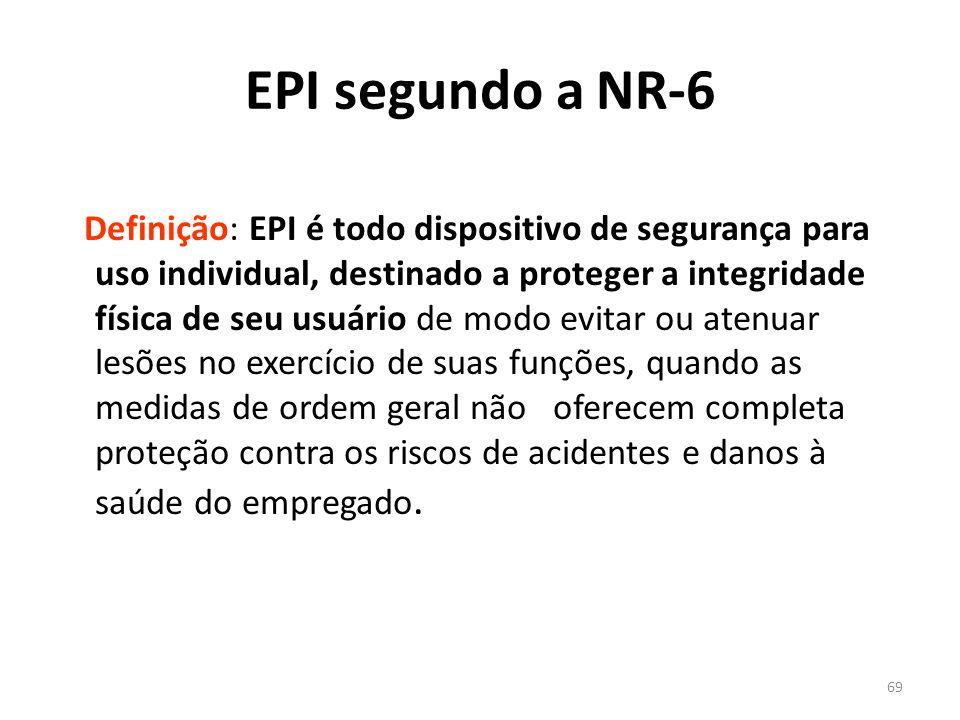 68 EQUIPAMENTO DE PROTEÇÃO INDIVIDUAL NR - 06 NÃO ESQUEÇA .