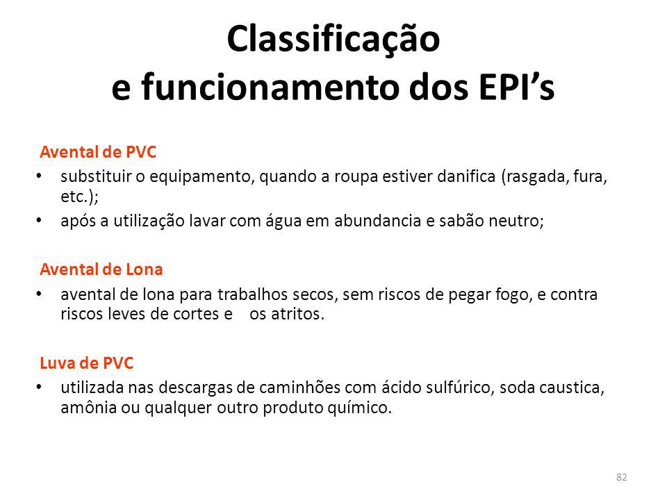 81 Classificação e funcionamento dos EPI's Abafador em Concha Estes aparelhos reduzem em até 40 decibéis o nível de ruído Principais Proteções para o