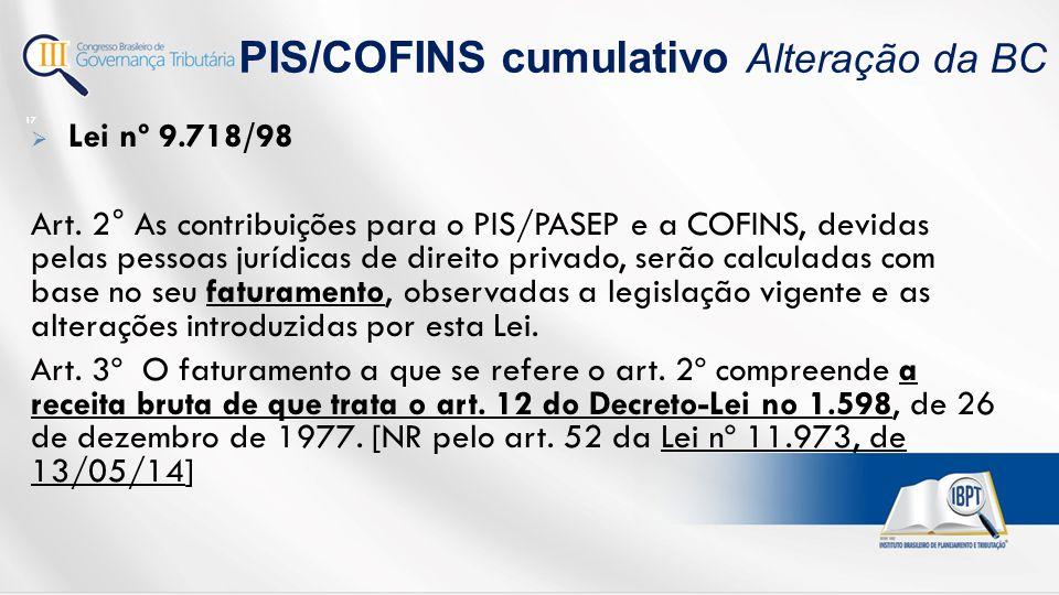  Lei nº 9.718/98 Art.