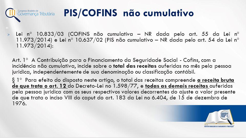  Lei nº 10.833/03 (COFINS não cumulativa – NR dada pelo art.