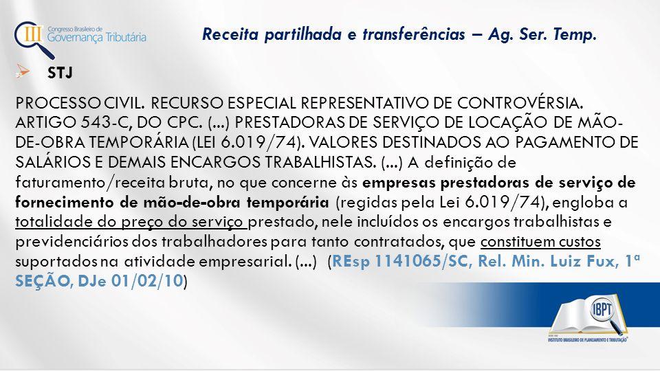  STJ PROCESSO CIVIL.RECURSO ESPECIAL REPRESENTATIVO DE CONTROVÉRSIA.