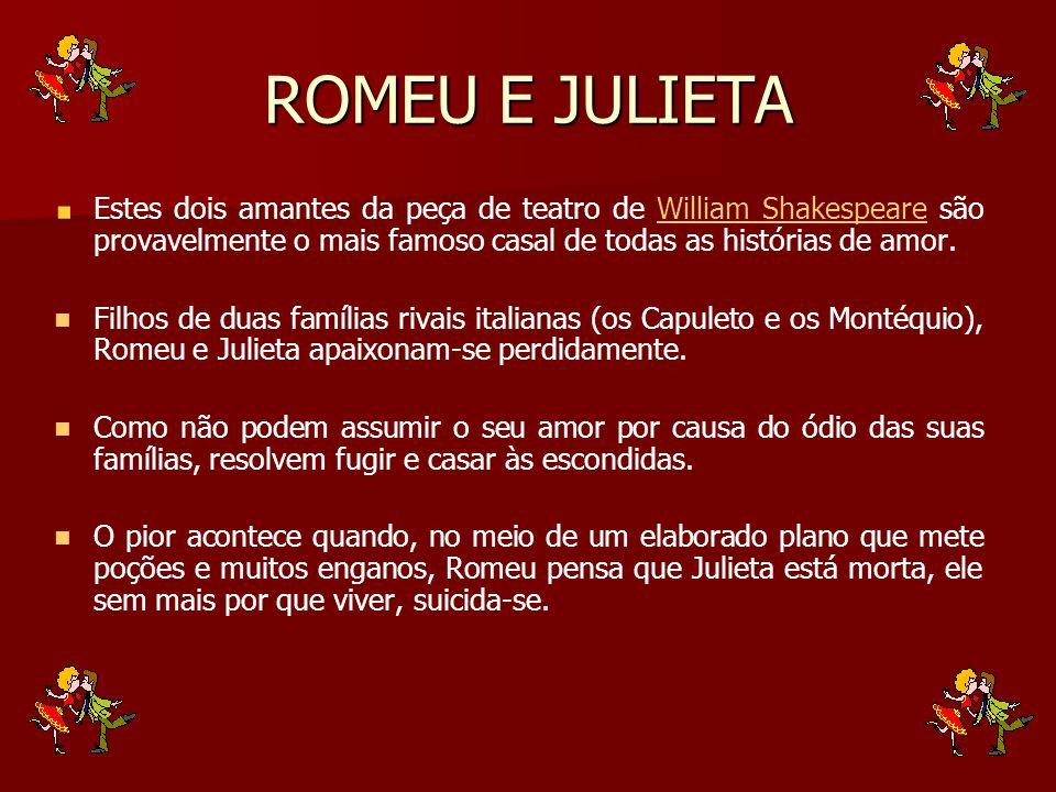 Quando Julieta, que estava num estado de letargia, acorda e vê Romeu morto ao seu lado, faz o mesmo que ele.letargia Dessa forma triste termina uma das mais belas histórias de amor.