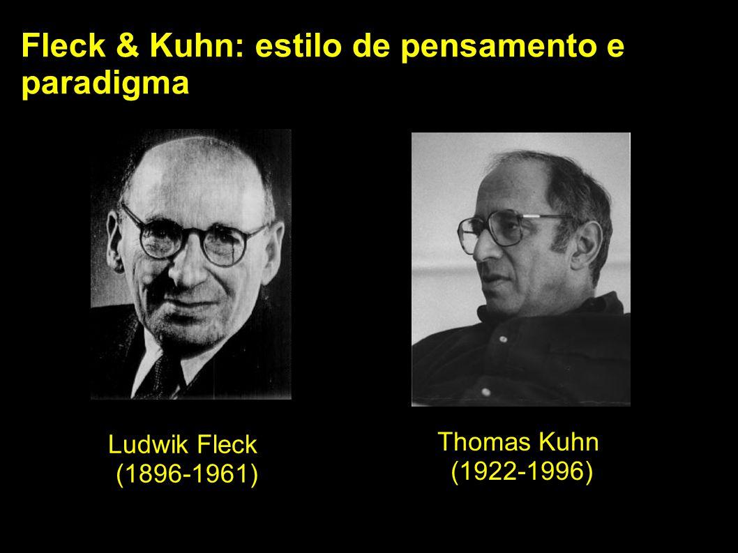 Fleck & Kuhn: estilo de pensamento e paradigma Ludwik Fleck (1896-1961) Thomas Kuhn (1922-1996)