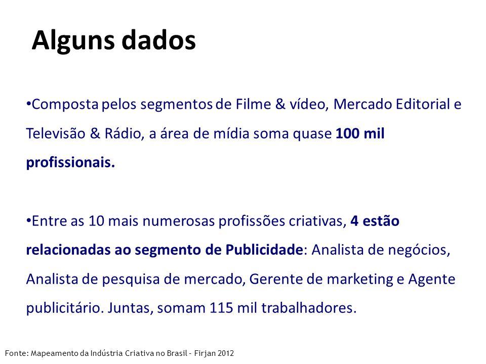 Composta pelos segmentos de Filme & vídeo, Mercado Editorial e Televisão & Rádio, a área de mídia soma quase 100 mil profissionais.