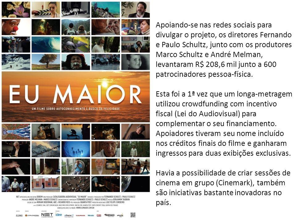 Apoiando-se nas redes sociais para divulgar o projeto, os diretores Fernando e Paulo Schultz, junto com os produtores Marco Schultz e André Melman, levantaram R$ 208,6 mil junto a 600 patrocinadores pessoa-física.