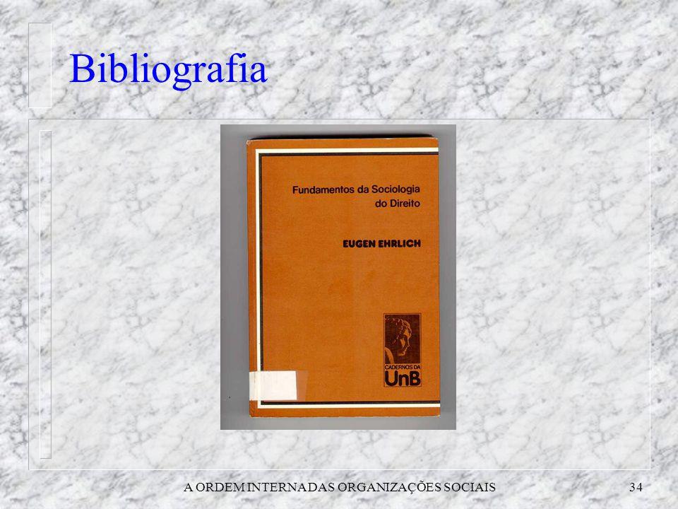 A ORDEM INTERNA DAS ORGANIZAÇÕES SOCIAIS34 Bibliografia