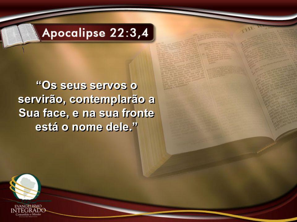 """""""Os seus servos o servirão, contemplarão a Sua face, e na sua fronte está o nome dele."""""""
