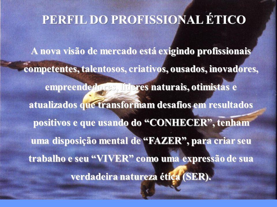 A nova visão de mercado está exigindo profissionais competentes, talentosos, criativos, ousados, inovadores, empreendedores, líderes naturais, otimist