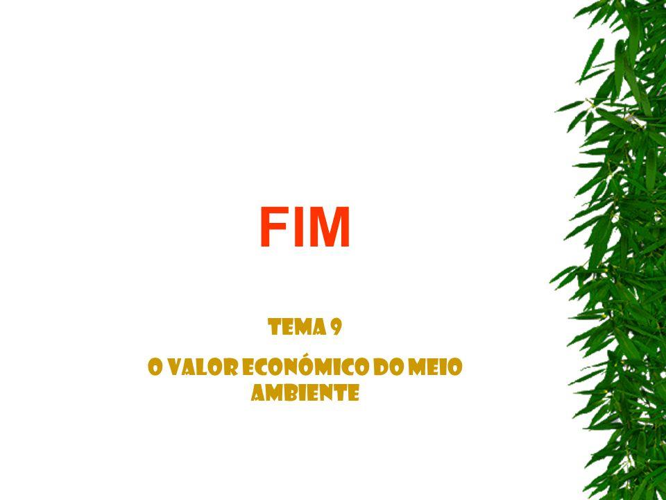 FIM Tema 9 O Valor Económico do Meio Ambiente