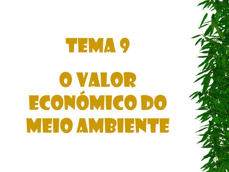 Tema 9 O Valor Económico do Meio Ambiente