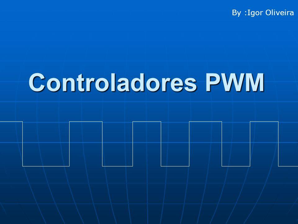 Conceito de PWM ( Conceito de PWM ( Pulse Width Modulation ou Modulação de Largura de Pulso ) Através do Chaveamento de tensão na Carga Obtemos Sinais com uma Largura que Podemos Controlar e com isso Controlar a Velocidade de um Motor DC.