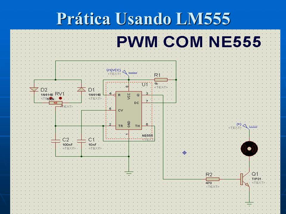 Prática Usando LM555