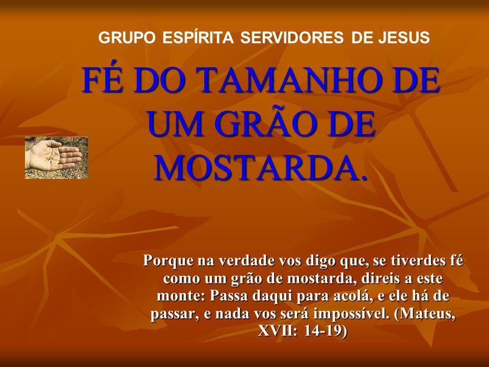 FÉ DO TAMANHO DE UM GRÃO DE MOSTARDA.