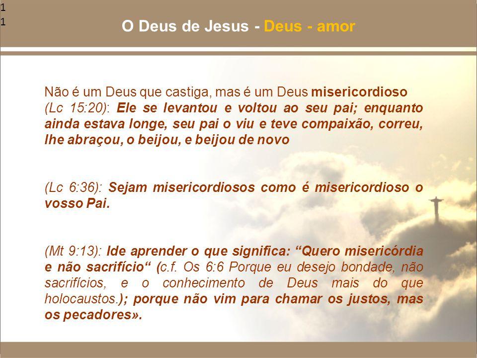 11 Não é um Deus que castiga, mas é um Deus misericordioso (Lc 15:20): Ele se levantou e voltou ao seu pai; enquanto ainda estava longe, seu pai o viu