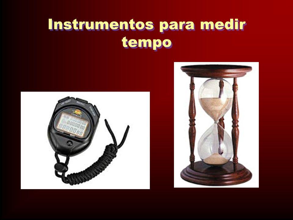 Instrumentos para medir tempo