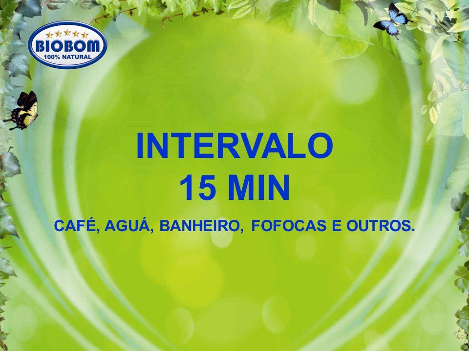 INTERVALO 15 MIN CAFÉ, AGUÁ, BANHEIRO, FOFOCAS E OUTROS.