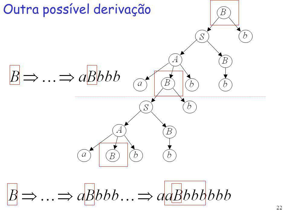 22 Outra possível derivação