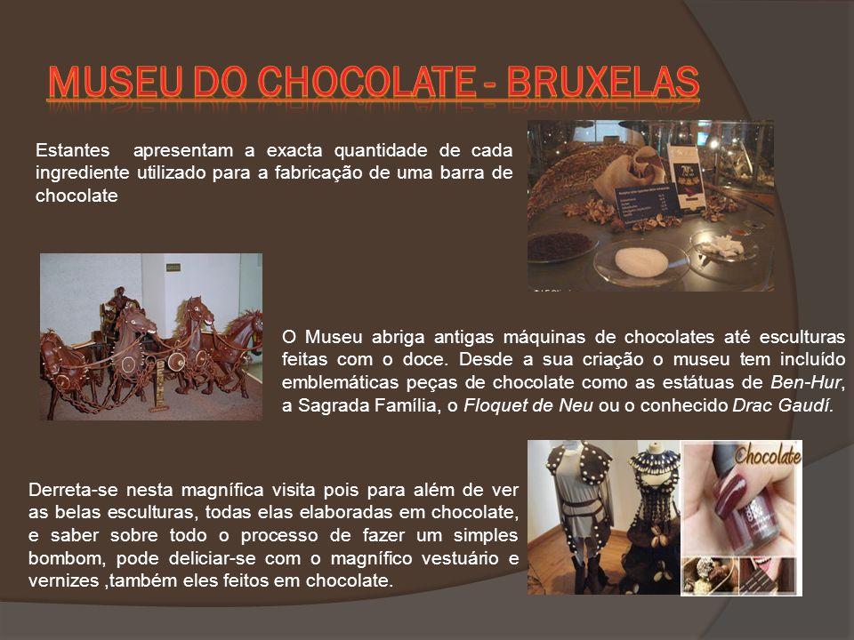 O Museu abriga antigas máquinas de chocolates até esculturas feitas com o doce. Desde a sua criação o museu tem incluído emblemáticas peças de chocola