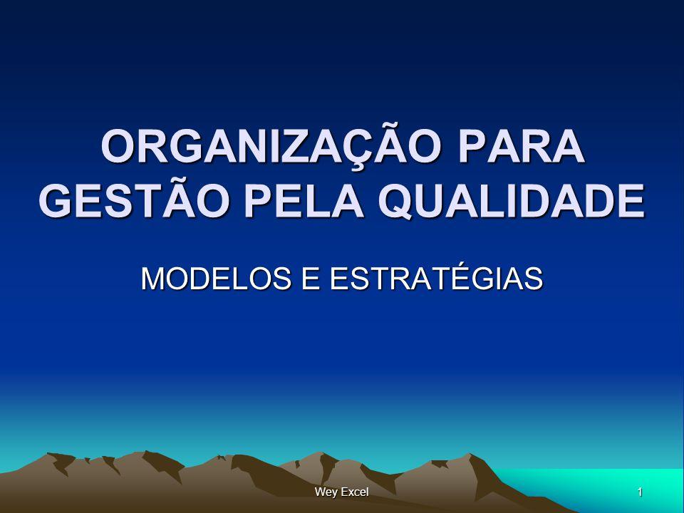 1 Wey Excel ORGANIZAÇÃO PARA GESTÃO PELA QUALIDADE MODELOS E ESTRATÉGIAS