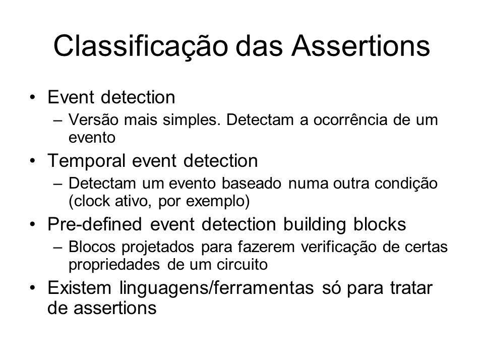 Classificação das Assertions Event detection –Versão mais simples.