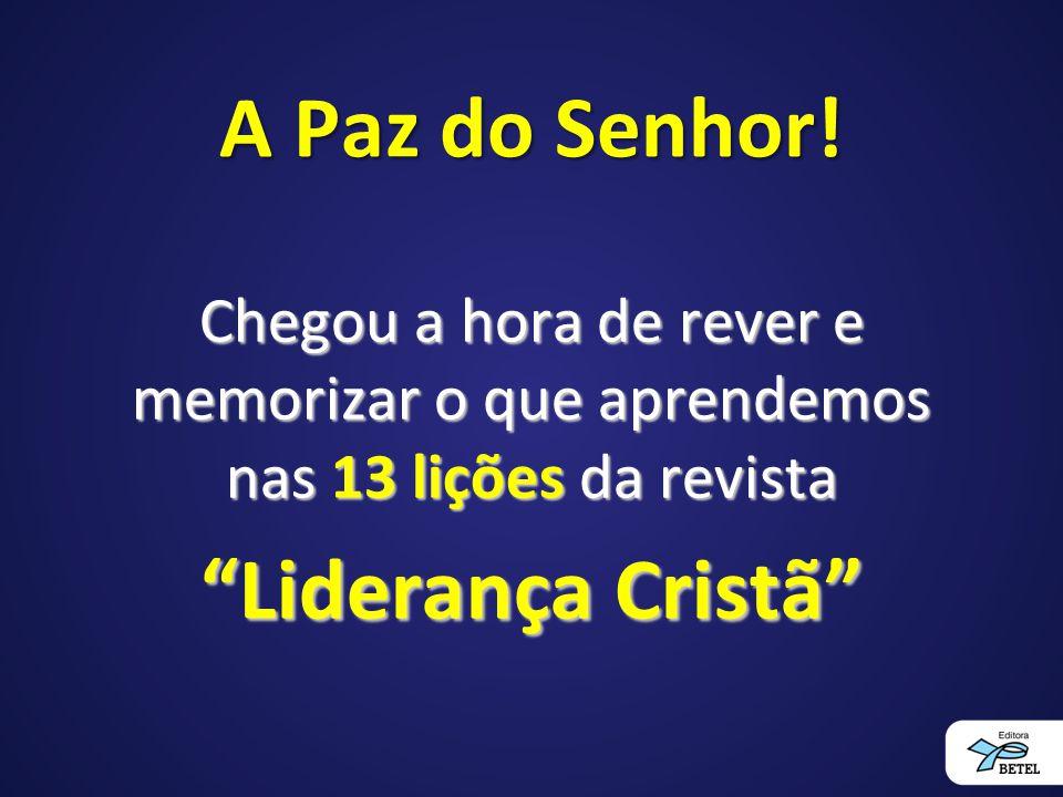 Alguém que se considera chamado no Corpo de Cristo para exercer liderança é alguém convidado e jamais se impõe como líder.