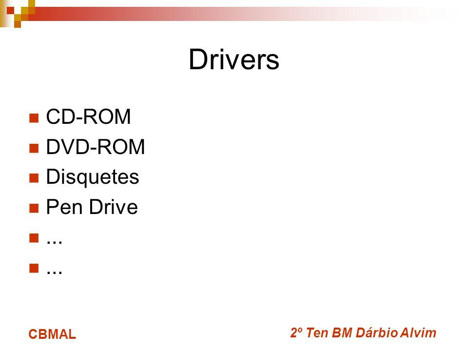 2º Ten BM Dárbio Alvim CBMAL Drivers CD-ROM DVD-ROM Disquetes Pen Drive...