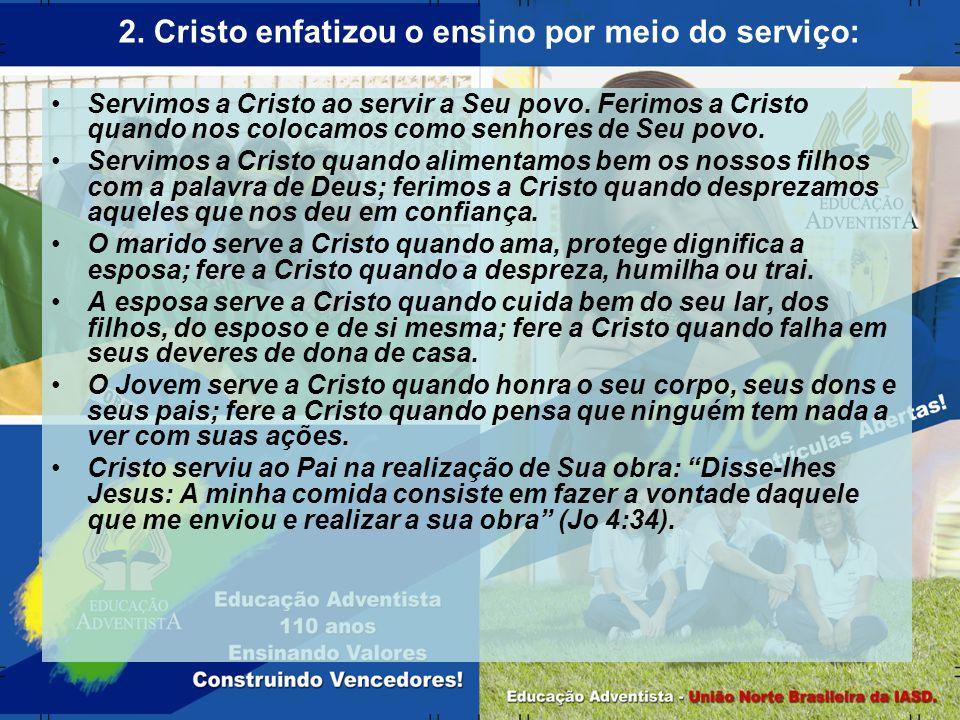 Servimos a Cristo ao servir a Seu povo. Ferimos a Cristo quando nos colocamos como senhores de Seu povo. Servimos a Cristo quando alimentamos bem os n