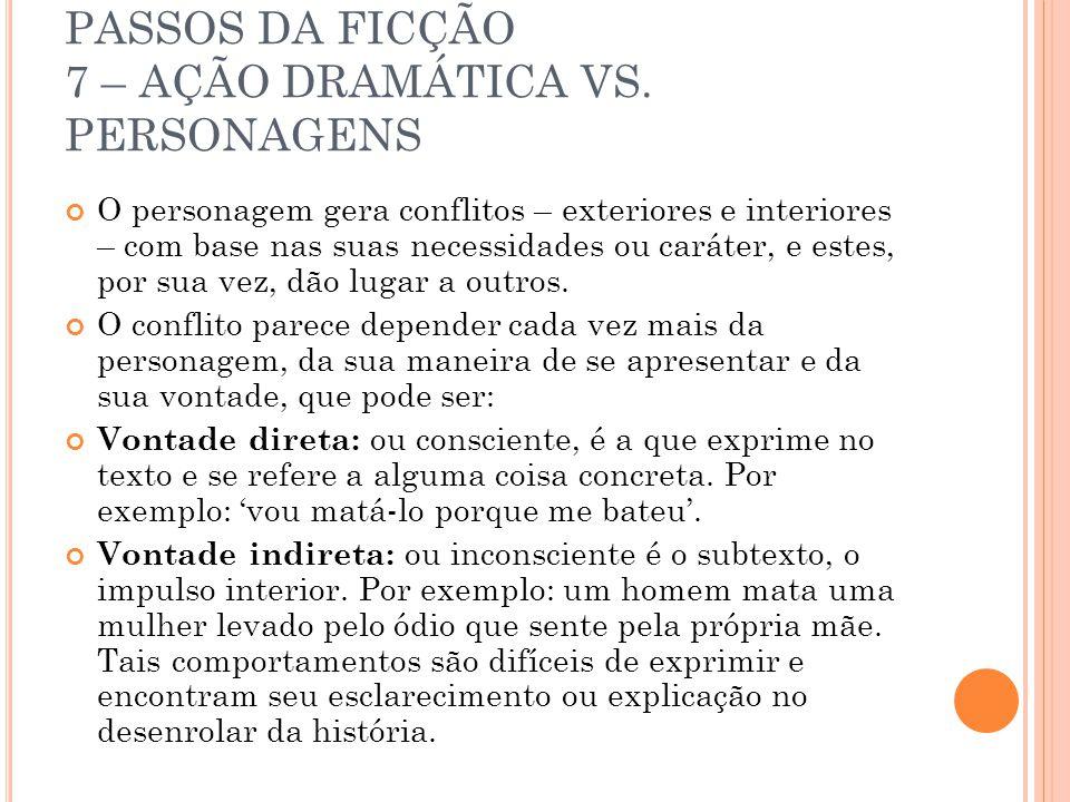 PASSOS DA FICÇÃO 7 – AÇÃO DRAMÁTICA VS.