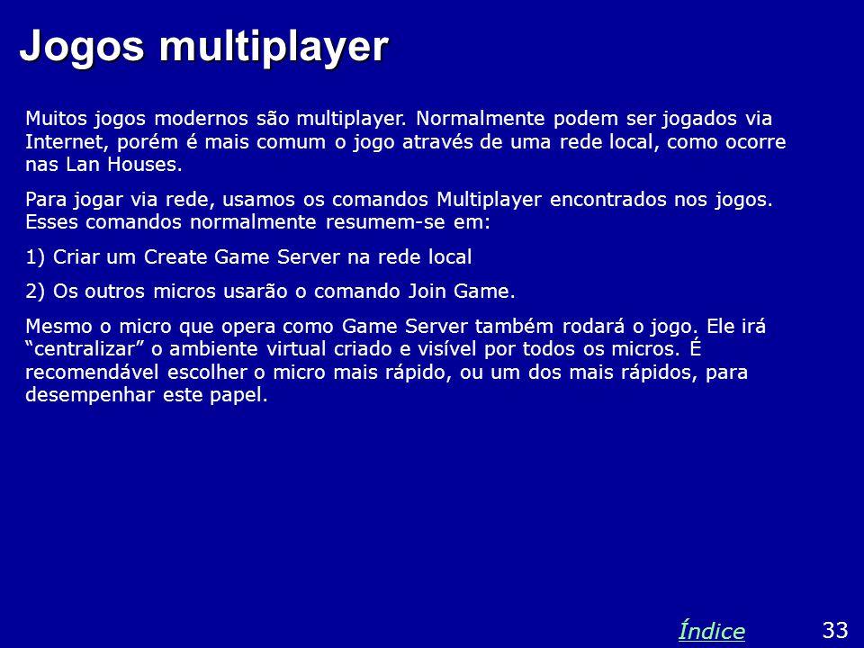 Jogos multiplayer Muitos jogos modernos são multiplayer.
