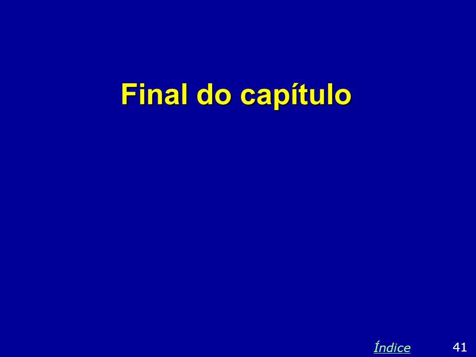 Final do capítulo 41 Índice