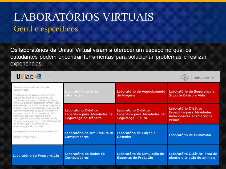 Os laboratórios da Unisul Virtual visam a oferecer um espaço no qual os estudantes podem encontrar ferramentas para solucionar problemas e realizar experiências.